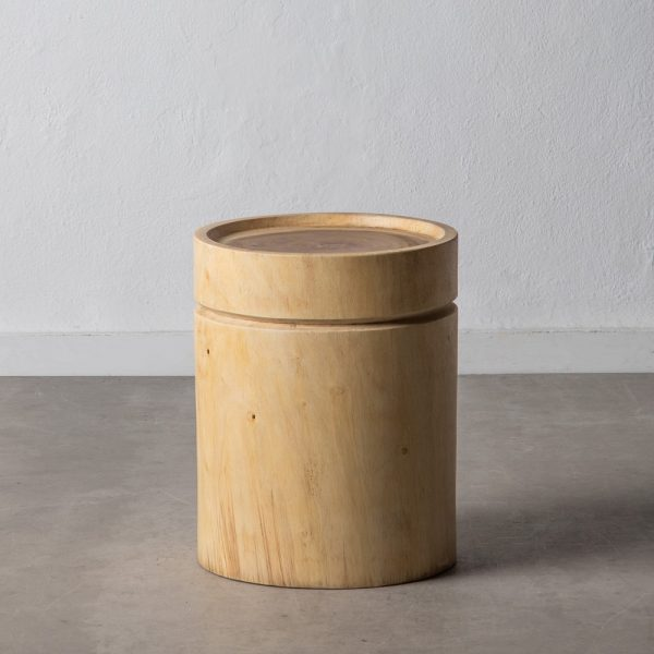 Mesa auxiliar natural madera de suar