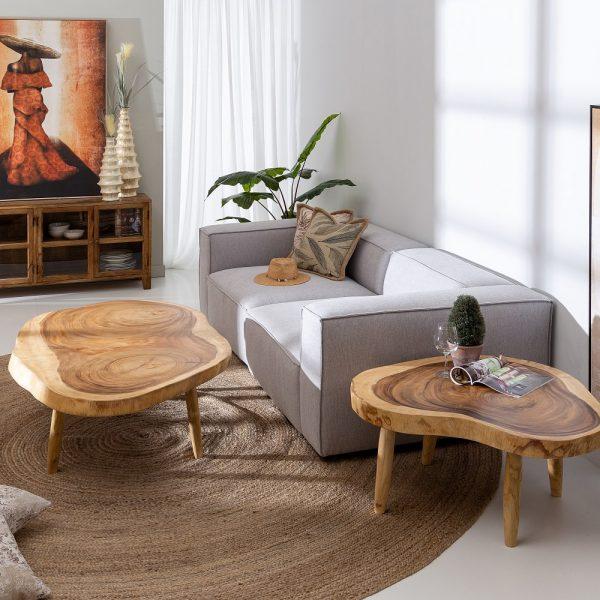 Mesa centro natural madera de suar
