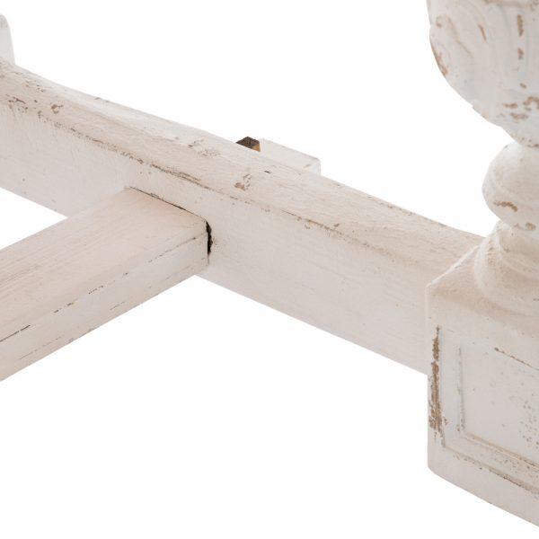 Mesa comedor blanco-natural