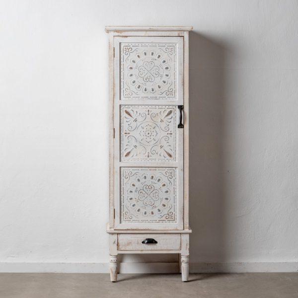 Mueble auxiliar blanco rozado