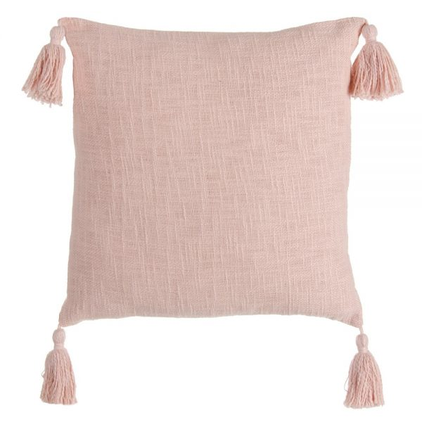 Cojín rosa 100% algodón decoración