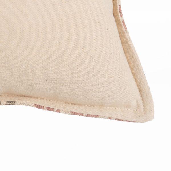 Cojín gris-rosa 100% algodón decoración