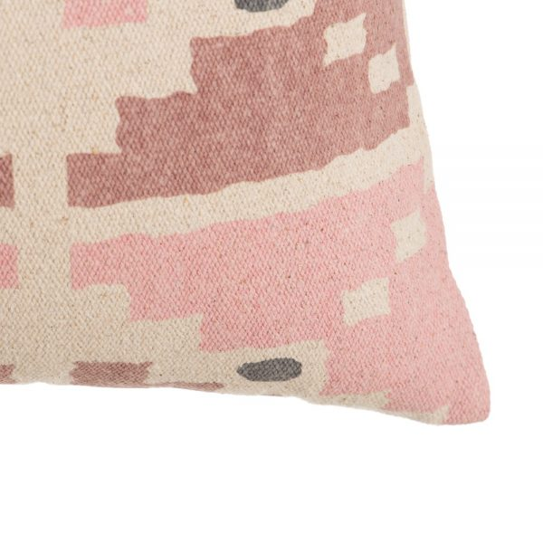 Cojín beige-rosa 100% algodón