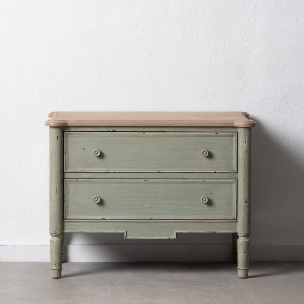 Mueble auxiliar natural-verde