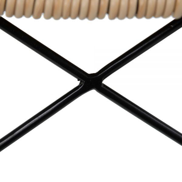 Silla natural-negro pp y metal salón