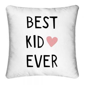 "Cojín ""kid"" blanco algodón textil y hogar"