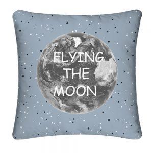 """Cojín """"moon"""" azul algodón textil y hoga"""