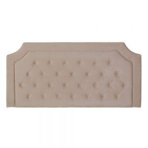 Cabecero crema tejido dormitorio