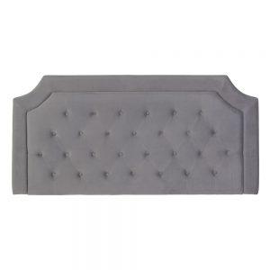 Cabecero gris tejido dormitorio