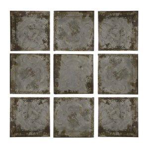 Paneles de hierro set nueve