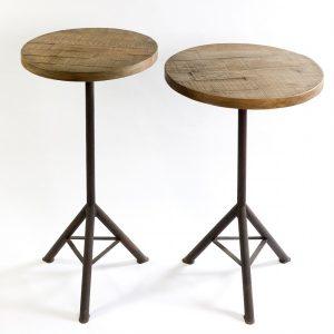 Mesa madera y metal alta