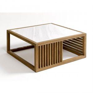 Mesa de centro roble, marmol
