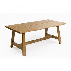 Mesa de comedor roble con travesaño