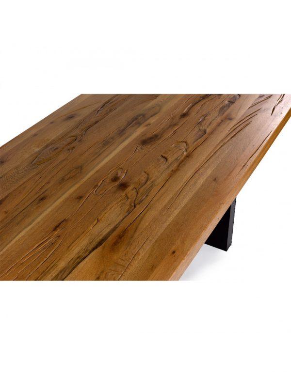 Mesa  madera de roble y metal