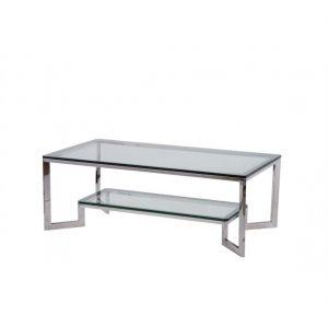 Mesa acero oscuro y cristal