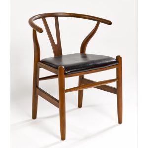 Sillon de madera  y asiento  polipiel