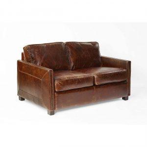 Sofa 2 plazas cuero envejecido