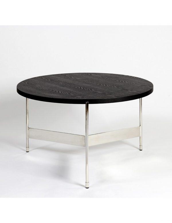 Mesa acero y madera