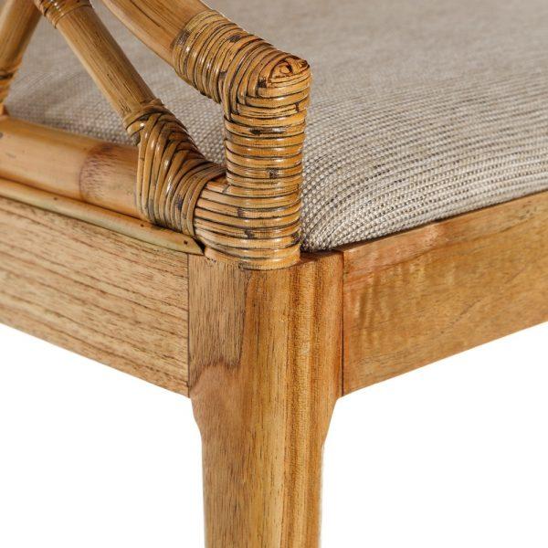 Silla natural madera mindi salón