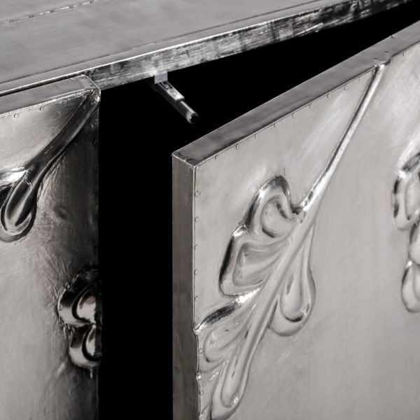 Aparador plata metal / madera