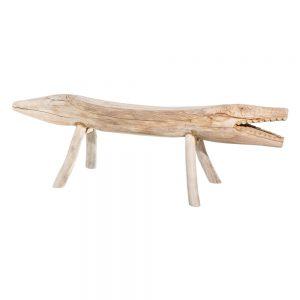 Banco natural madera decoración