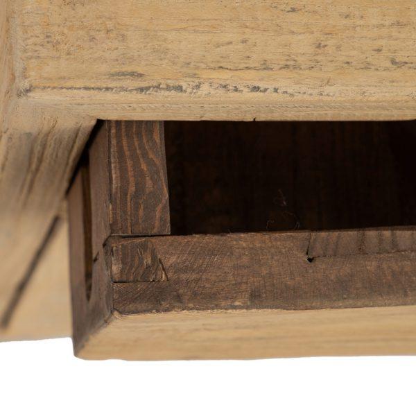 Mesita natural madera de olmo salón