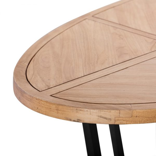 Mesa comedor natural madera mindi salón