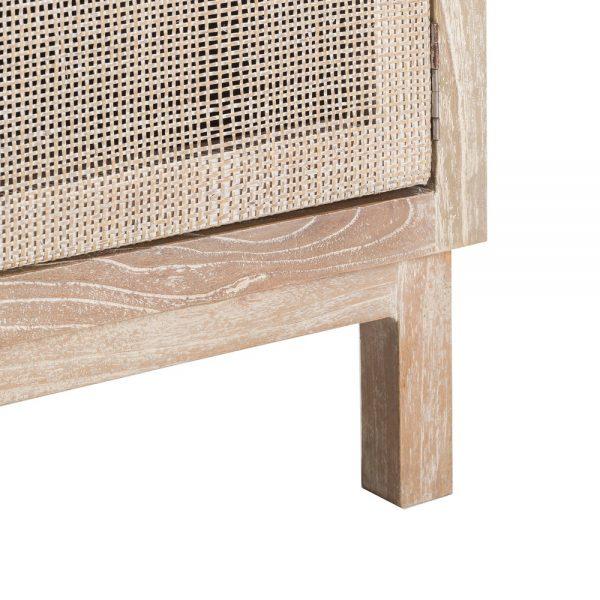 Mueble tv natural lavado madera mindi