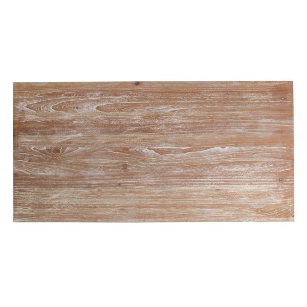 Mesa comedor gris rozado madera mindi