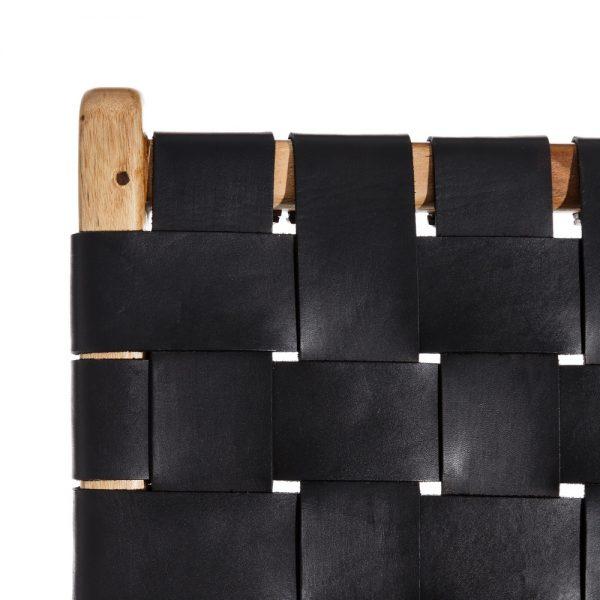 Butaca natural madera teka/piel salón