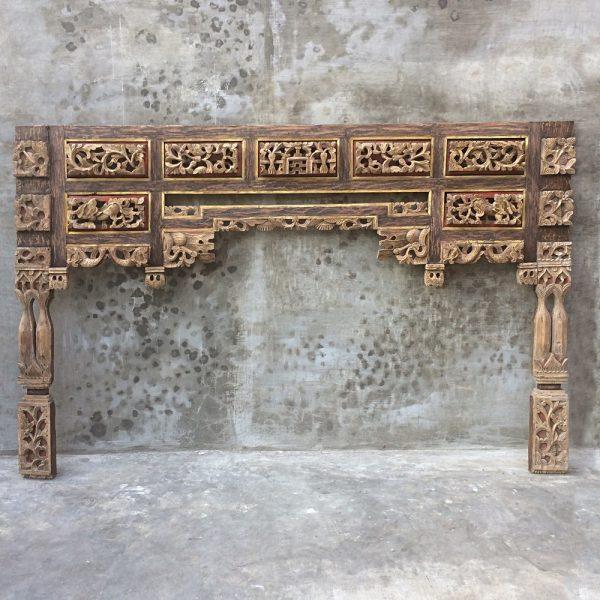 Cabecero antiguo madera de teka