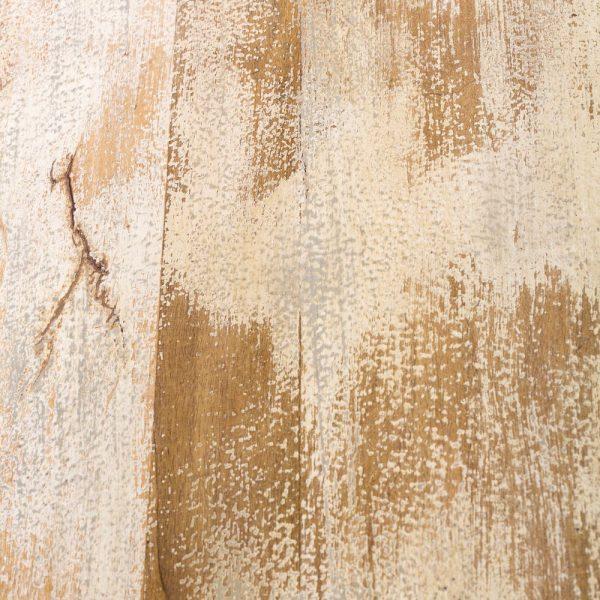Mesa centro blanco decapé madera