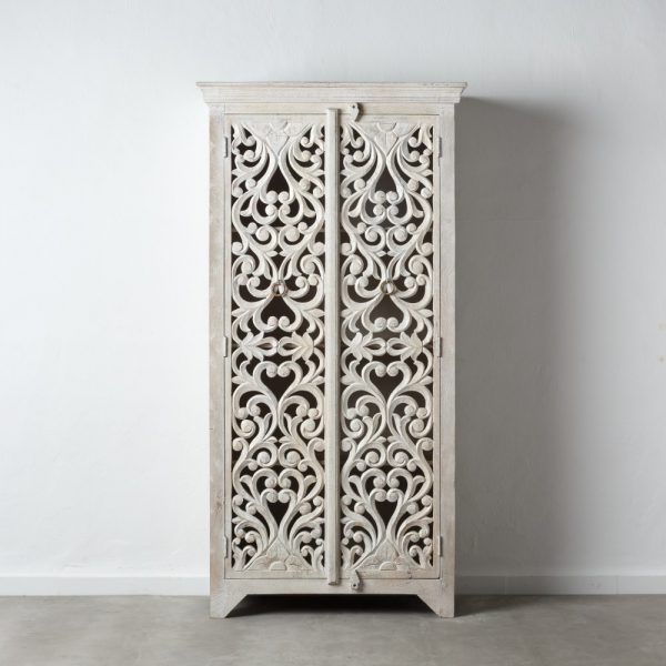 Armario talla blanco rozado madera