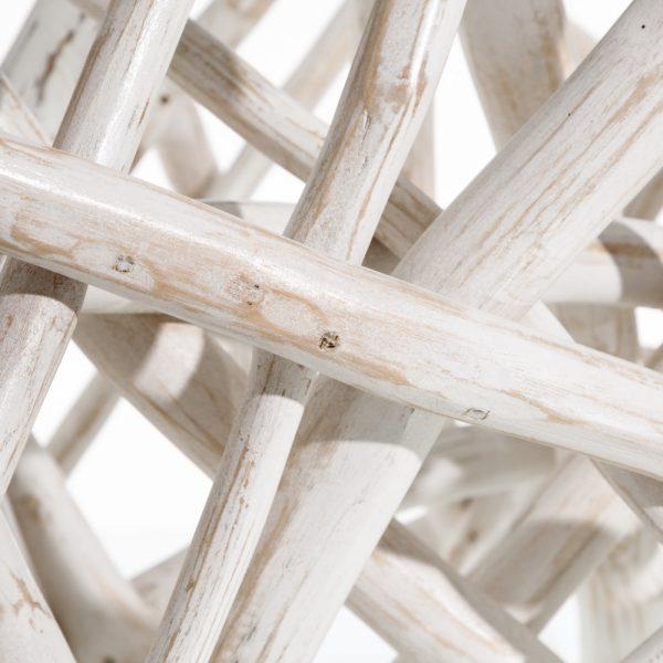 Mesa centro blanco rozado