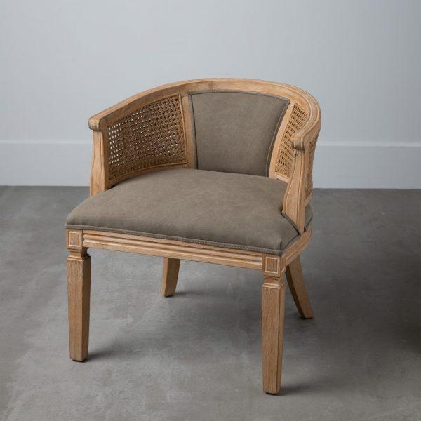 Sillón tejido-madera clásico salón