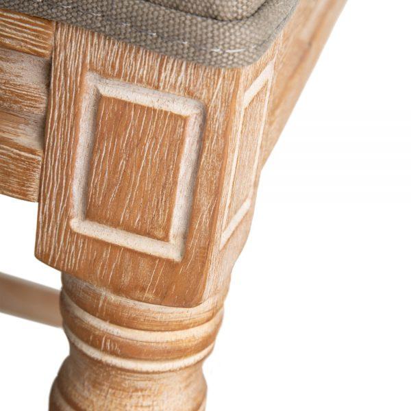 Taburete tejido-madera clásico salón