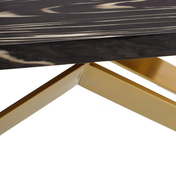Mesa centro negro-oro