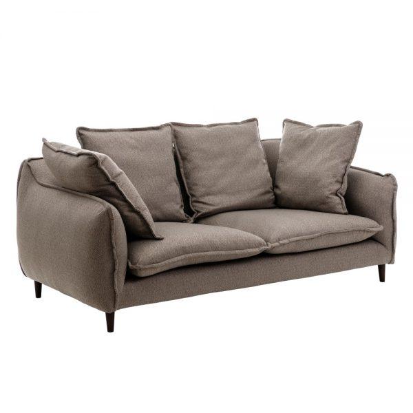 Sofá 3 plazas gris-negro
