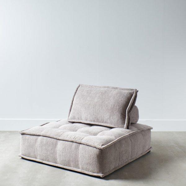 Sofá 1 plaza gris claro