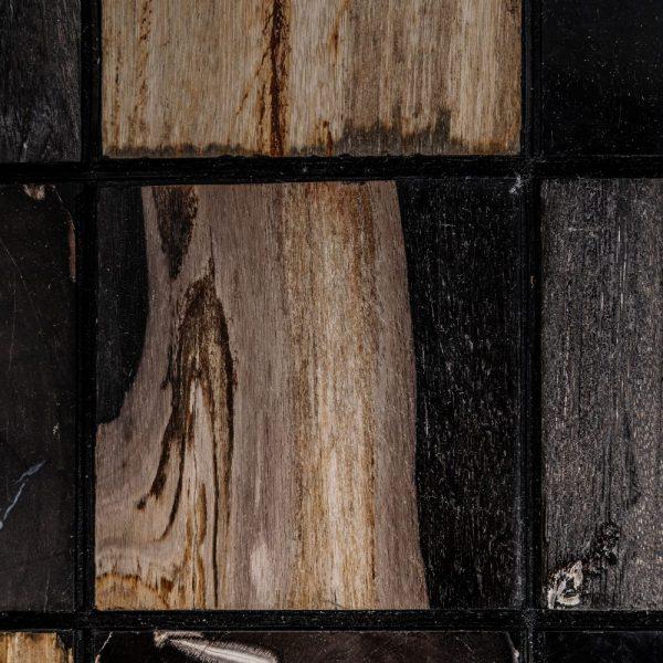 Mesa centro oro viejo-negro