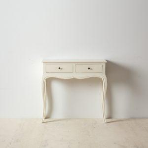 Consola blanco roto madera mindi
