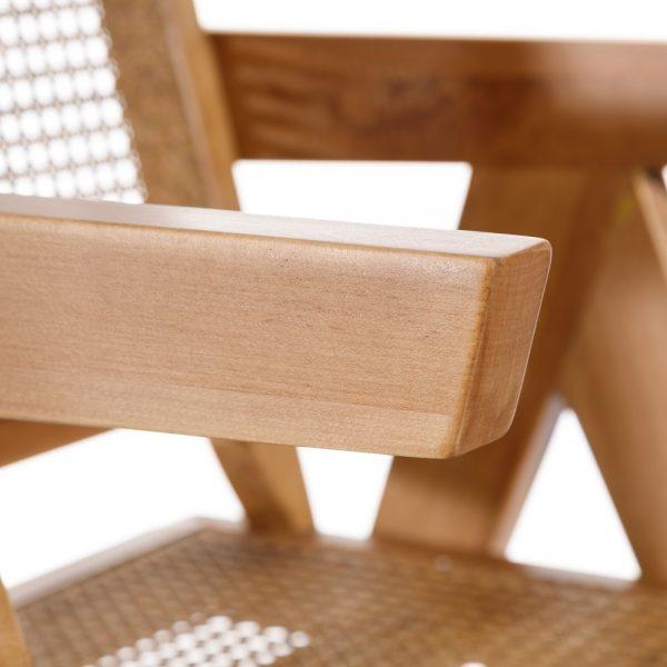 Silla natural ratán/madera salón