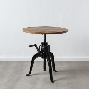 Mesa comedor ajustable natural-negro