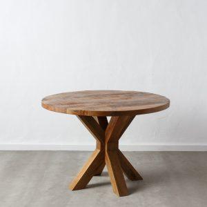Mesa comedor redonda natural