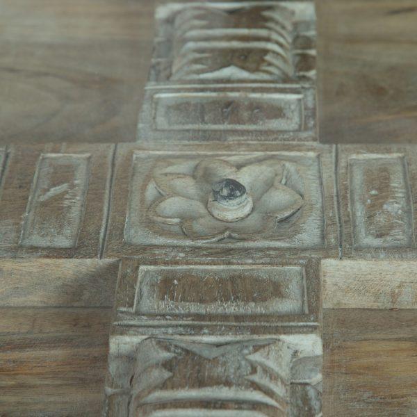 Mesa centro gris-negro madera de mango