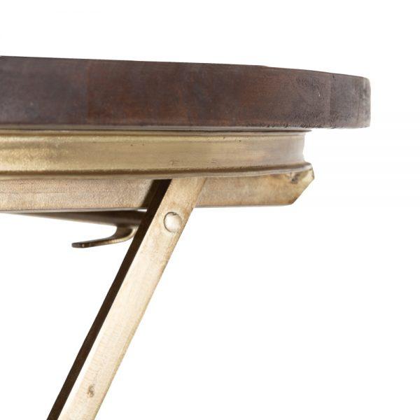 Mesa auxiliar oro-marrón