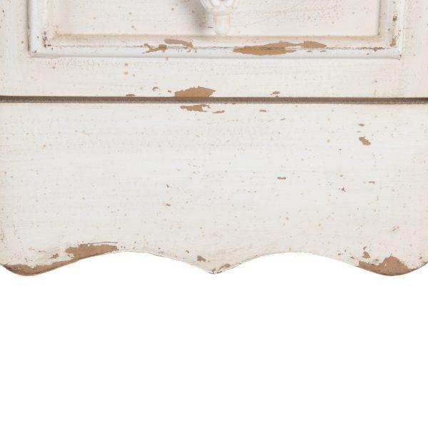 Consola blanco rozado madera de abeto