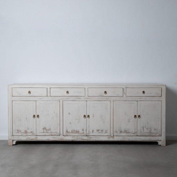 Aparador blanco rozado salón