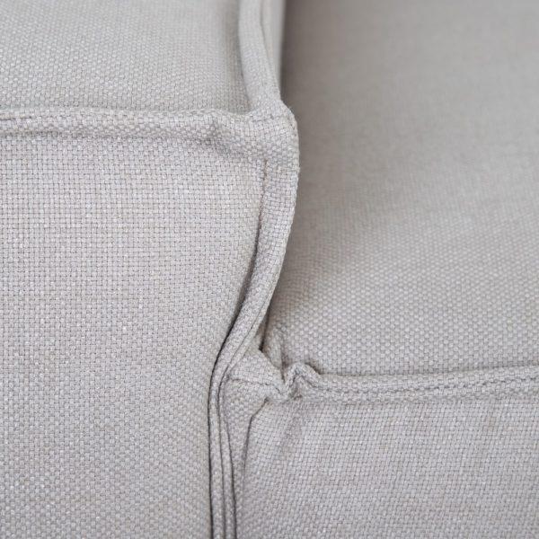 Esquina módulo izda corto gris tejido