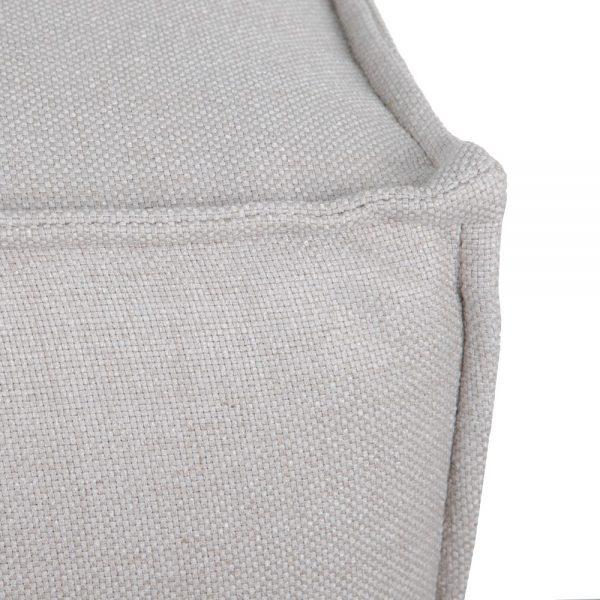 Módulo intermedio largo gris tejido